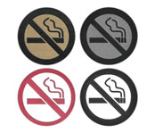 No Smoking Symbol Badges