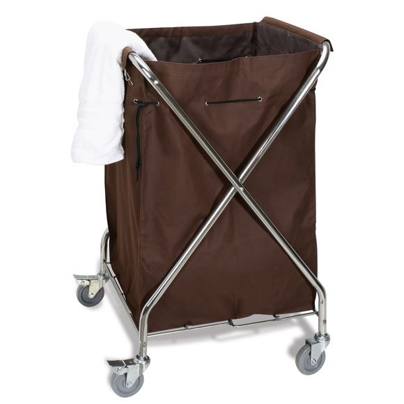 LodgMate Folding Linen Cart w/Bag