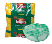 Folgers .9 oz. Coffee Filter Packs, Decaf - 40/cs.