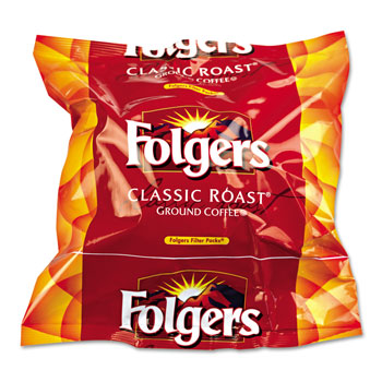 Folgers Regular Coffee, 12-Cup Filter Pouch; 160/cs.