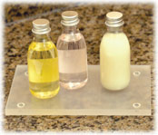 Frosted Acrylic Soap Dish & Tray
