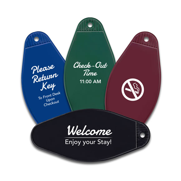 Hotel & Motel Key Tags | Plastic Key Fobs | Imprinting Available