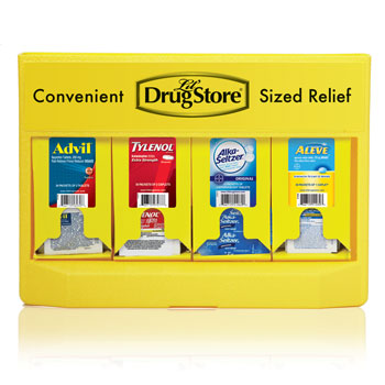 Grab N Go OTC Medication Display; 105pc