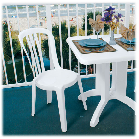 Outdoor Patio Furniture Miami: Grosfillex Miami Bistro Chair