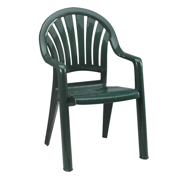 Grosfillex pacific fanback chair national hospitality for Pvc lawn furniture