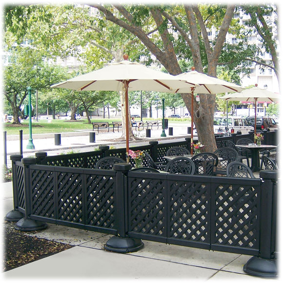 Grosfillex Portable Patio Fence. Click to zoom - Grosfillex Portable Patio Fence National Hospitality
