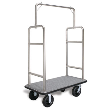 Heavy Duty S.S. Luggage Carrier; Brushed Chrome