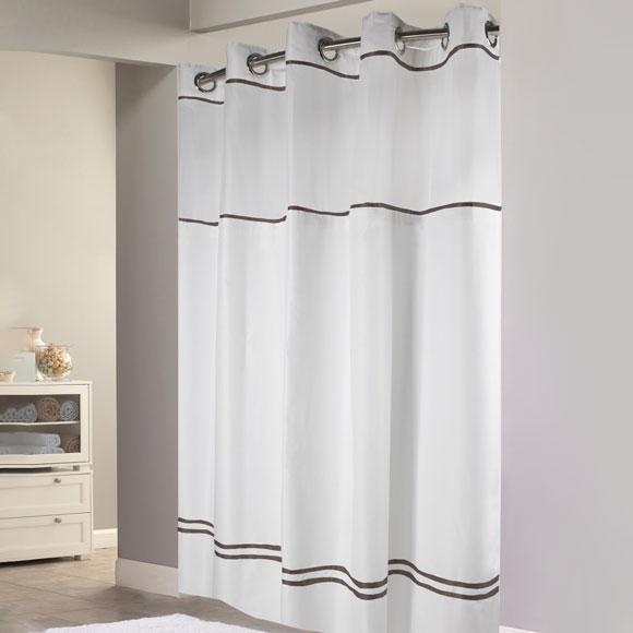 Escape 71x74 Hookless Shower Curtain
