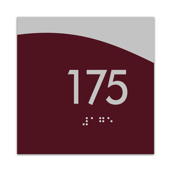 "Horizon 4"" x 4"" ADA Braille Room Number Sign"