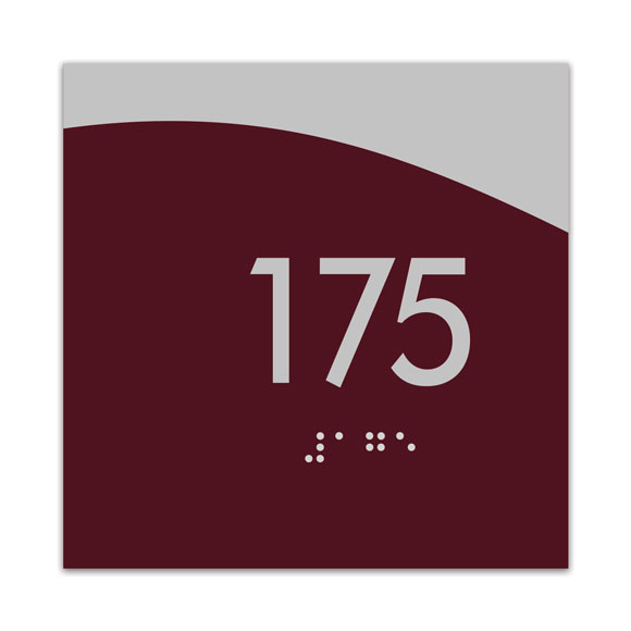 "Horizon 4"" x 4"" ADA Braille Room Number Sign"
