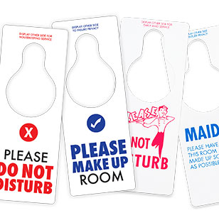 Hotel Do Not Disturb Signs