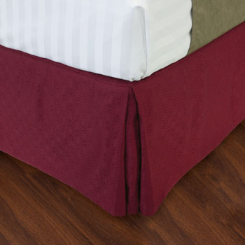 LodgMate Jacquard Bed Skirts - 100% Polyester