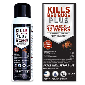 JT Eaton Kills Bed Bugs Plus - 17.5 oz. - 6/cs.