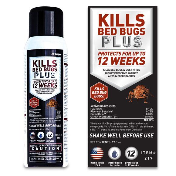 JT Eaton Kills Bed Bugs Plus - 17.5 oz. - 6/cs.