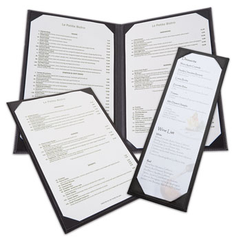 Leatherette Menu Covers