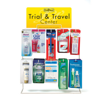 lil drug store display refills travel size amenities