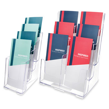Leaflet Size Tiered Literature Holders