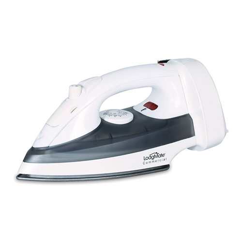 LodgMate Auto Shut-Off Retractable Cord Hotel Steam Iron - Grey