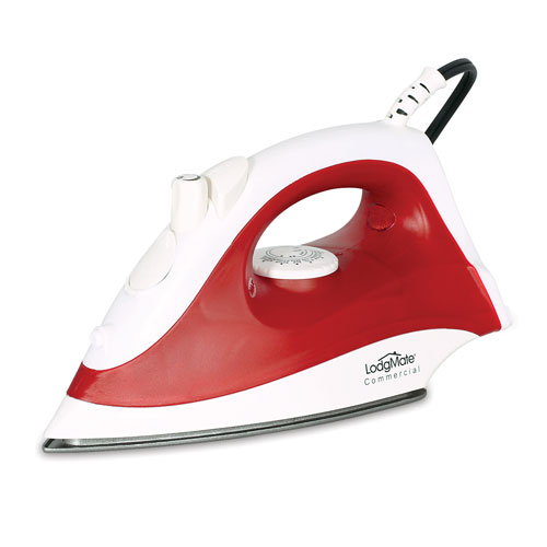 LodgMate Auto Shut-Off Hotel Steam Iron - Red