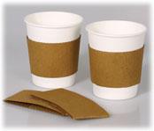 Kraft Coffee Cup Sleeves; For 8-16 Oz -1000/cs.