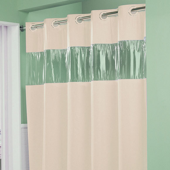 """LodgMate """" Vision"""" Pre-Hooked Polyester Curtain; 71x74"""""""