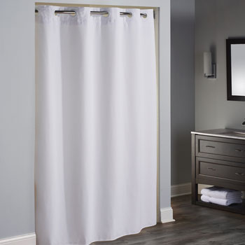 "LodgMate "" Mini Waffle"" Pre-Hooked Polyester Curtain - 71""x74"""