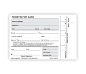 Registration Cards (Plain or Numbered)