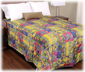 Trevira Quilted Polyester Bedspread Aruba