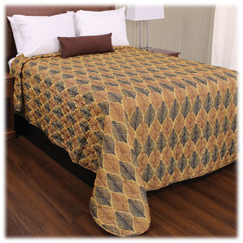 Trevira Quilted Polyester Bedspreads - Leaves