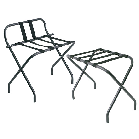 LodgMate Matte Black Hotel Luggage Racks