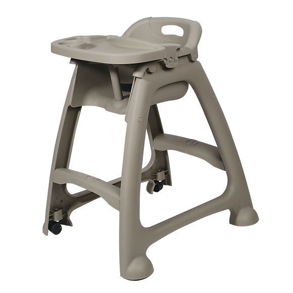 Plastic High Chair W Casters National Hospitality