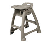 Plastic High Chair With Tray, Strap & Casters