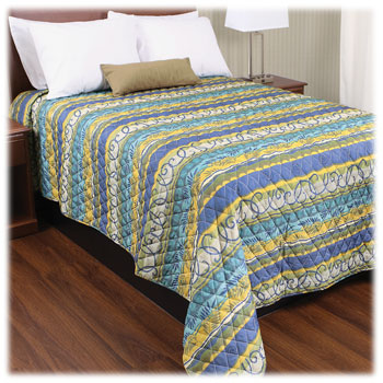 Trevira Quilted Polyester Bedspreads - Tropic Stripe