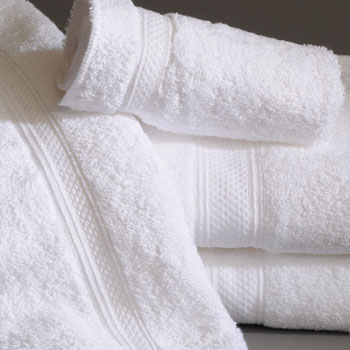 Nirvana 100% Pima Cotton White Guestroom Towels