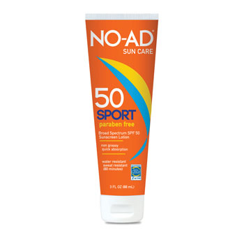 NO-AD Sport SPF-50 3 oz. Sunscreen Lotion - 12/pk.
