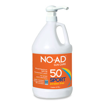NO-AD Sport SPF 50 Sunscreen Lotion - 1 Gallon