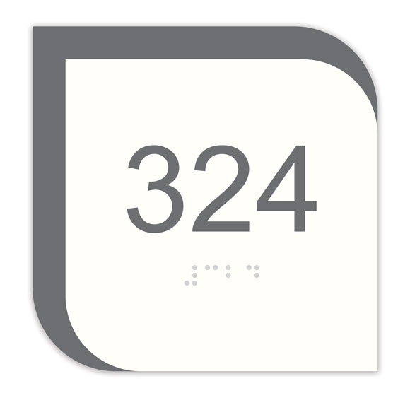 "Nova 4"" x 4"" ADA Braille Room Number Sign"