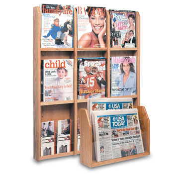 Oak/Acrylic Display Racks