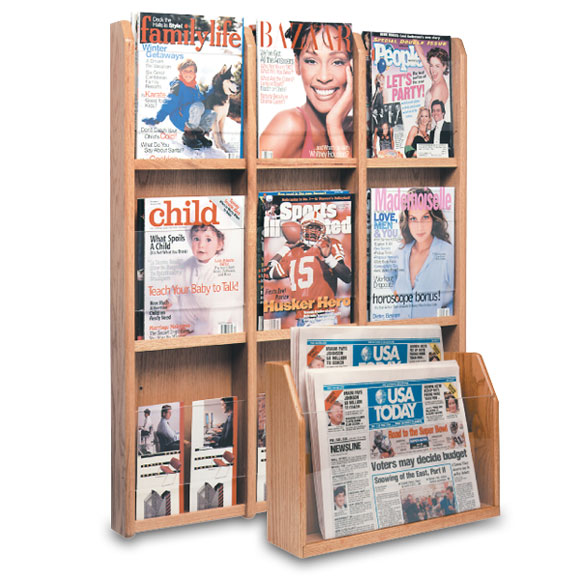 Oak/Acrylic Display Racks