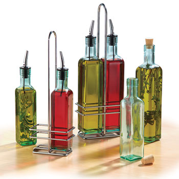 Olive Oil Bottles w/Chrome Pourer