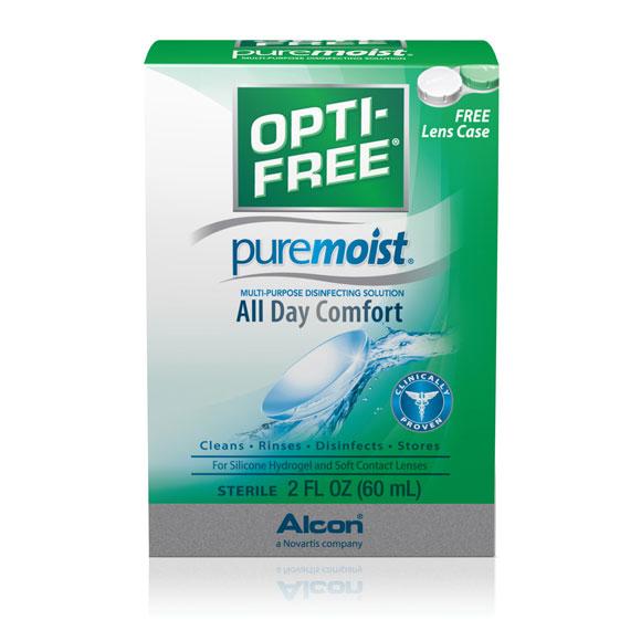 Opti-Free PureMoist 2 oz. Lens Solution - 24/cs.