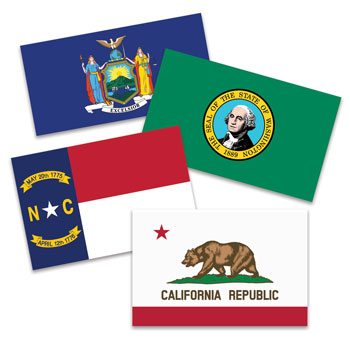 Outdoor State Flags