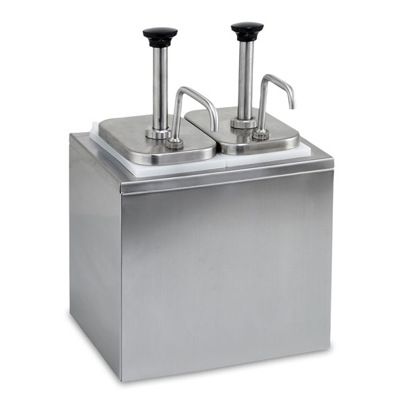 2 Pump Condiment Dispenser National Hospitality Supply