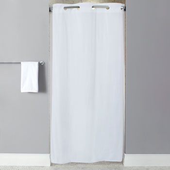 "LodgMate Pre-Hooked Vinyl Stall Size (42""x74"") Shower Curtain"