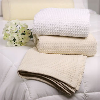 Waffle Weave Cotton Thermal Blankets