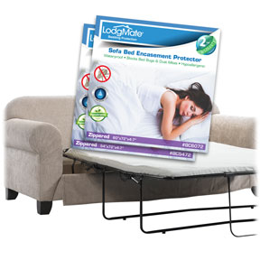 LodgMate Terry Cloth Zippered Sofa Bed Encasements