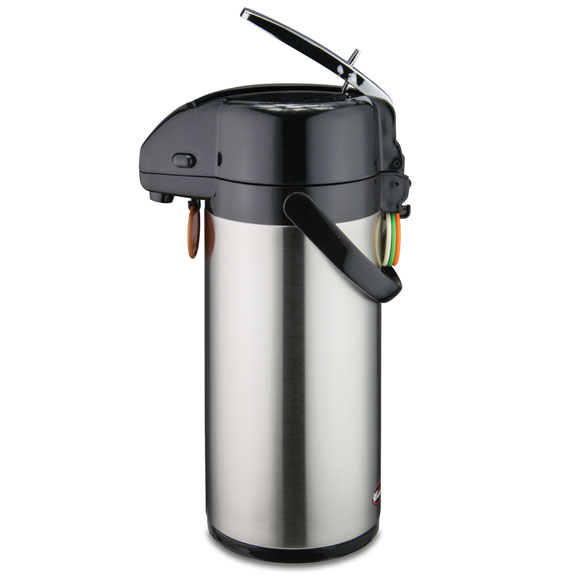 Stainless Steel Lined Airpots - 2.5 or 3 Liter w/ Lever Top