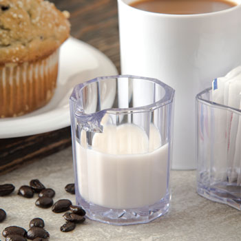 2 oz. Clear Plastic Pitcher/Creamer 24/pk