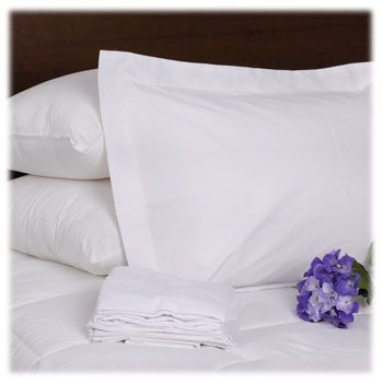 T-200 White Pillow Shams