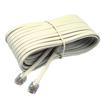 Telephone Extension Cord - 25 ft. - Ivory